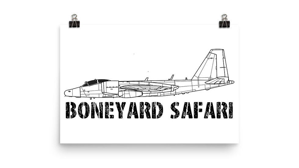Boneyard Safari WB-57 Poster