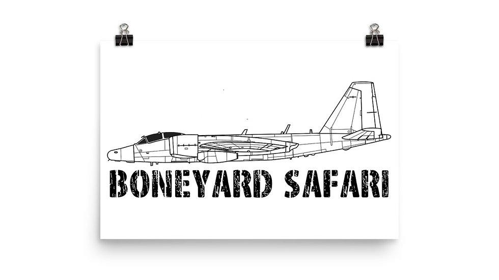Boneyard Safari WB-57 Poster