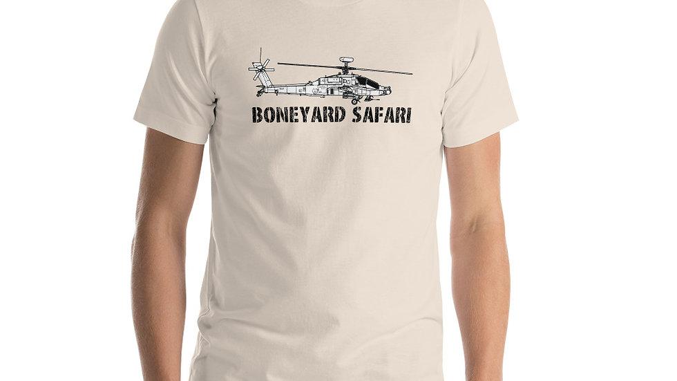 Boneyard Safari AH-64E Short-Sleeve Unisex T-Shirt