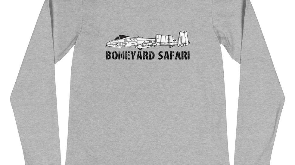 Boneyard Safari A-10 Unisex Long Sleeve Tee