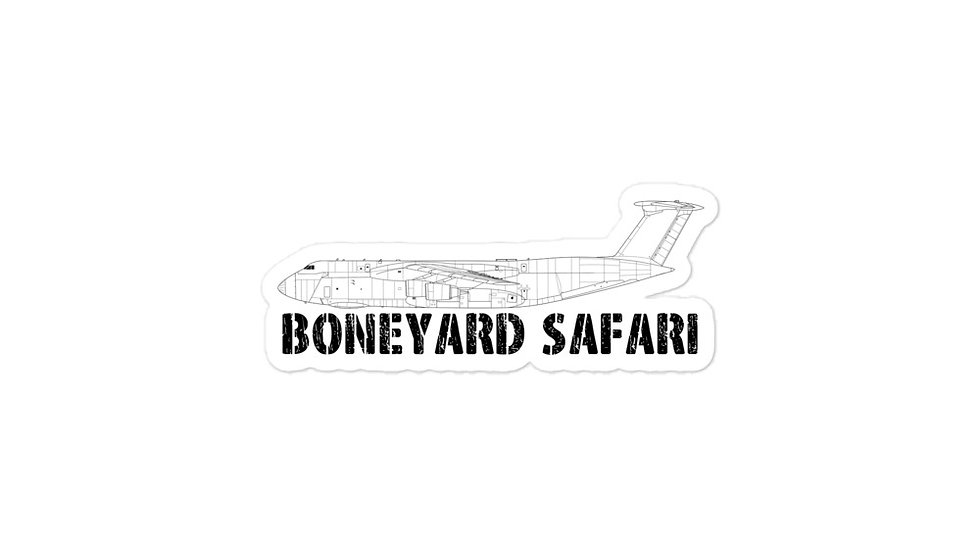 Boneyard Safari C-5M sticker
