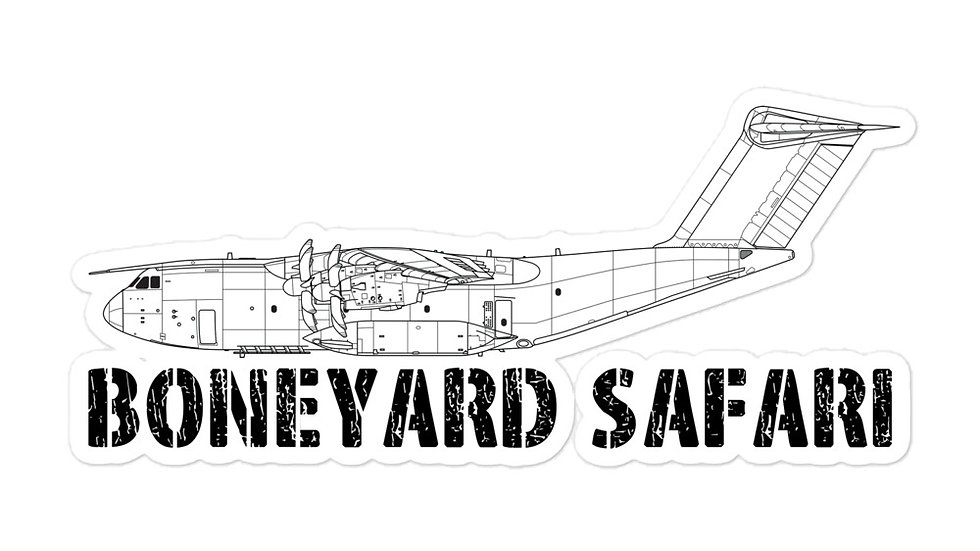 Boneyard Safari A400M sticker
