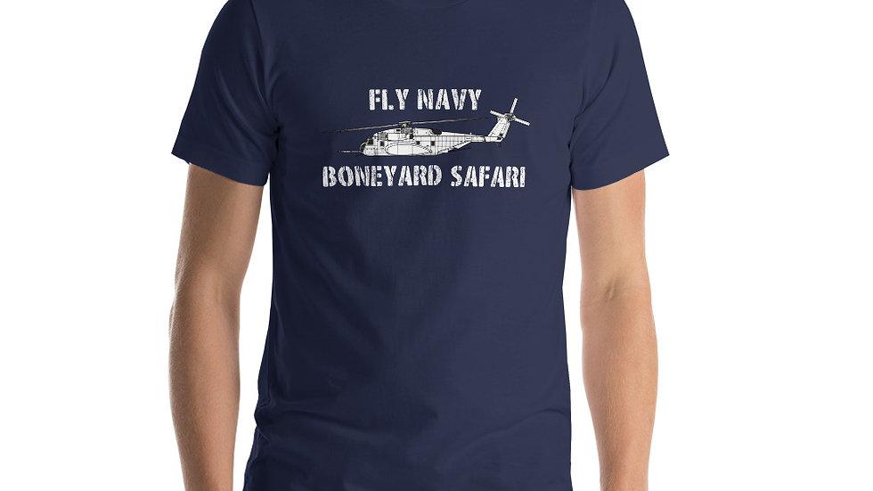 Boneyard Safari Fly Navy MH-53E Sea Dragon Short-Sleeve Unisex T-Shirt