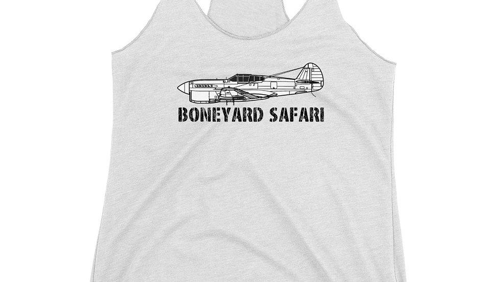 Boneyard Safari P-40F Women's Racerback Tank