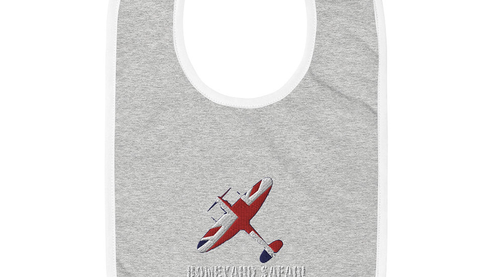 Boneyard Safari Spitfire Union Jack Embroidered Baby Bib