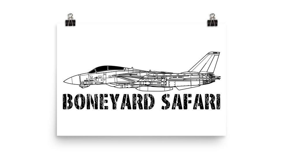 Boneyard Safari F-14 Poster