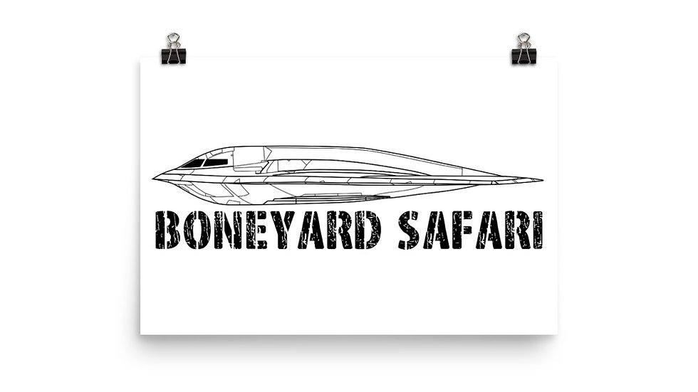 Boneyard Safari B-2A Poster
