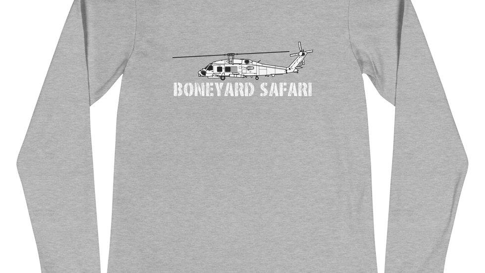 Boneyard Safari SH-60B Seahawk Unisex Long Sleeve Tee