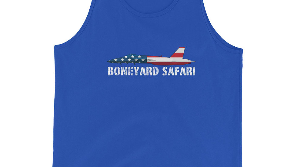 Boneyard Safari F-18 Flag Unisex Tank Top