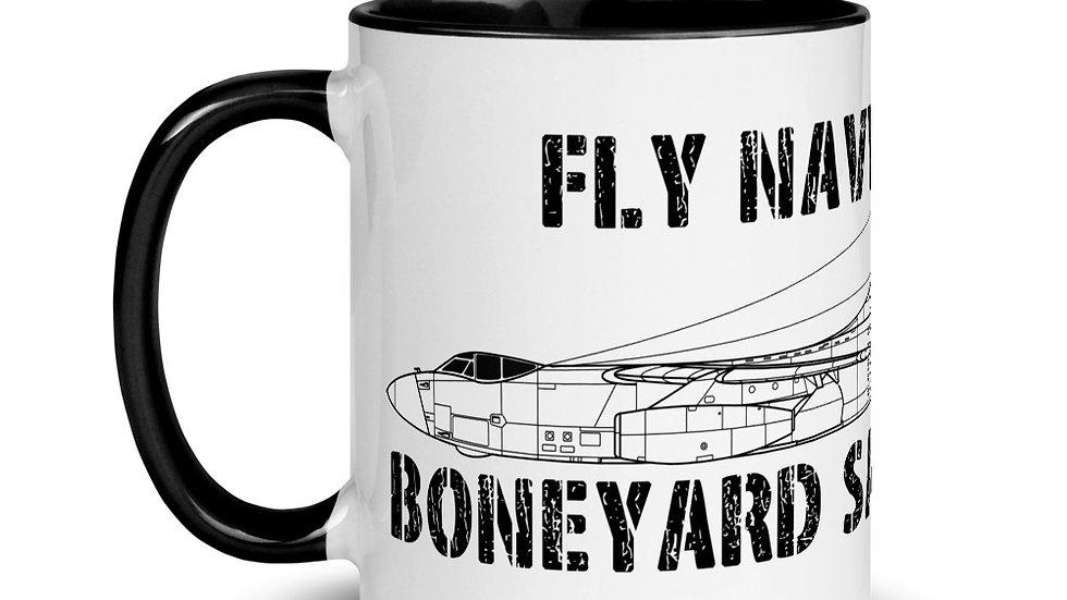 Boneyard Safari Fly Navy A-3 Mug with Color Inside