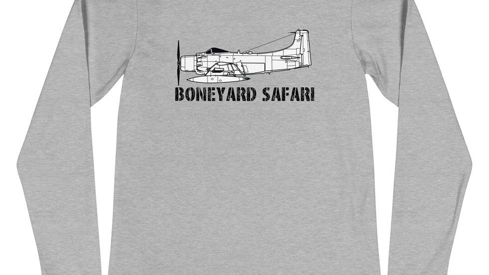 Boneyard Safari A-1 Skyraider Unisex Long Sleeve Tee