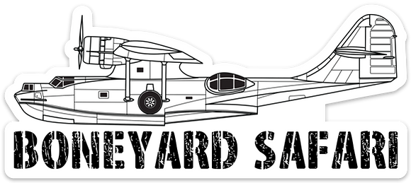 PBY Boneyard Safari Illustration Sticker