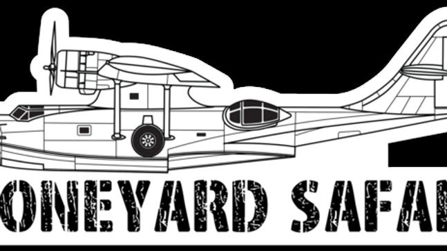 PBY Boneyard Safari Illustration Sticker