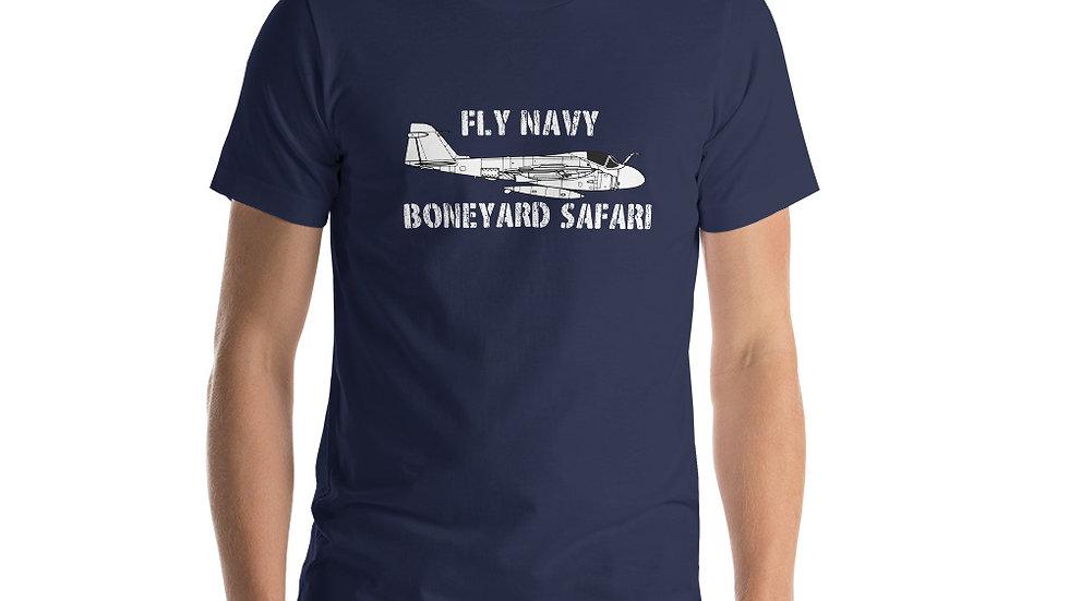 Boneyard Safari Fly Navy A-6 Short-Sleeve Unisex T-Shirt