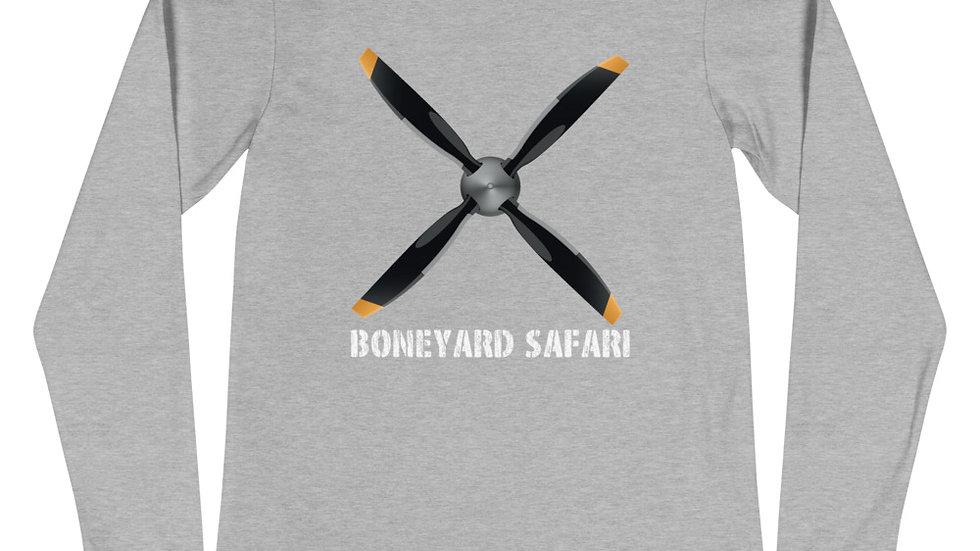 Boneyard Safari 4 Blade Propellor Unisex Long Sleeve Tee
