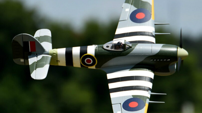 Hawker Typhoon 6CH With Flaps Retracts 3S EPO PNP RC Airplane FMS 1100MM