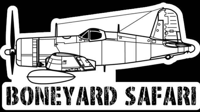 F4U Corsair Boneyard Safari Illustration Sticker