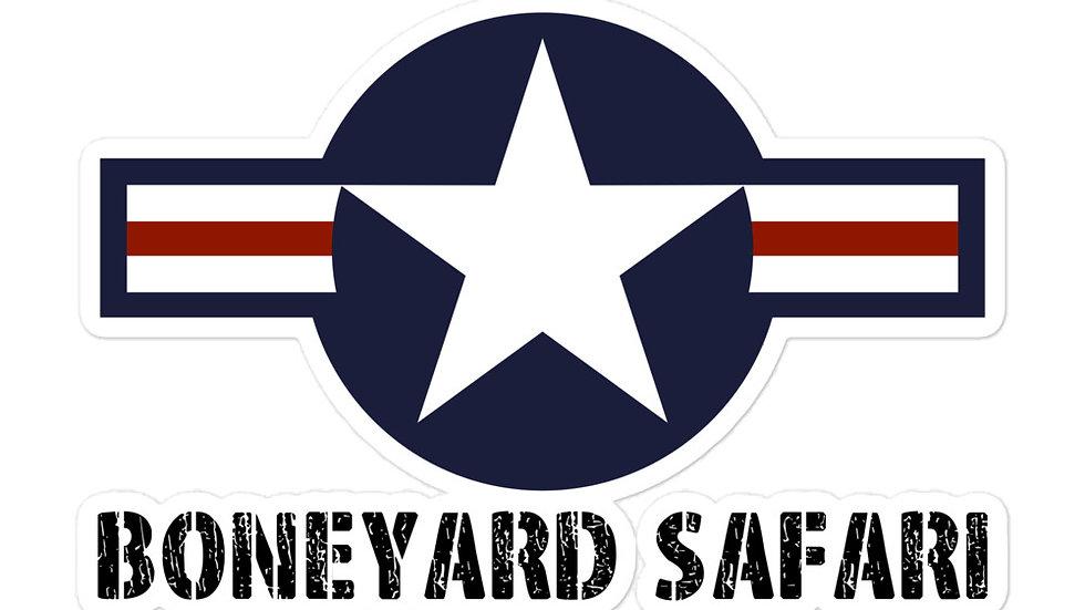 Boneyard Safari USA Roundel sticker
