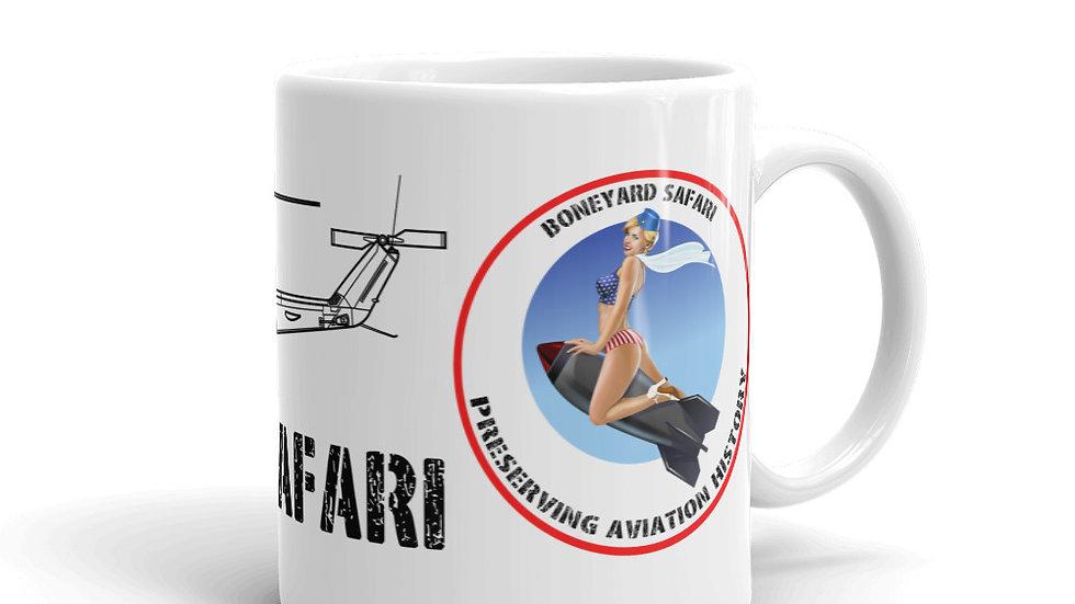 Boneyard Safari UH-1N with logo coffee mug
