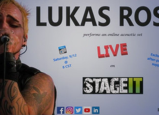 Lukas Rossi Stageit Show - Saturday, September 12th!