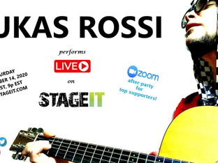 Lukas Rossi Stageit Show - Saturday, November 14th!