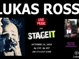 Lukas Rossi Stageit Show - Saturday, October 24th!
