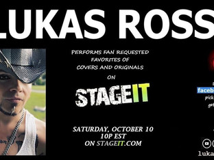 Lukas Rossi Stageit Show - Saturday, October 10th!