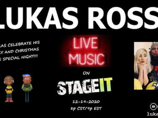 Lukas Rossi Stageit Show - Saturday, December 19th!