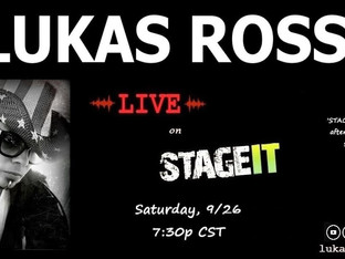 Lukas Rossi Stageit Show - Saturday, September 26th!