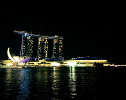 Singapore Marina Bay Sands Night