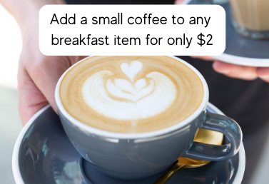 Small Coffee Add On $2