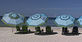 Rent beach chairs beach umbrellas