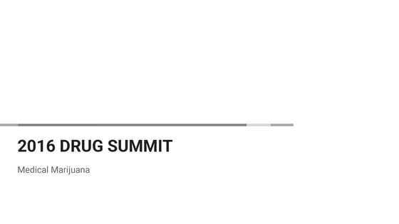 Drug Summit Presentation: Truth about cannabis with links to the scientific references as proof.