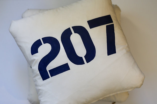 "Printed Nautical Pillow - ""207"""