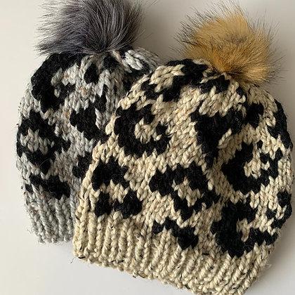 Animal Print Winter Hat