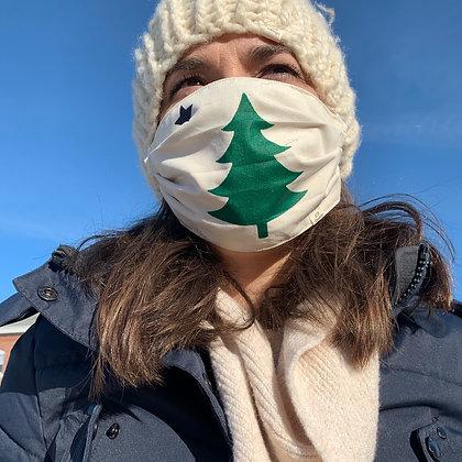Maine Flag Mask