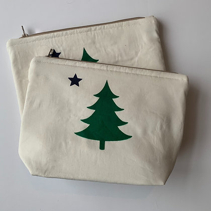 Maine Flag Cosmetic Bag