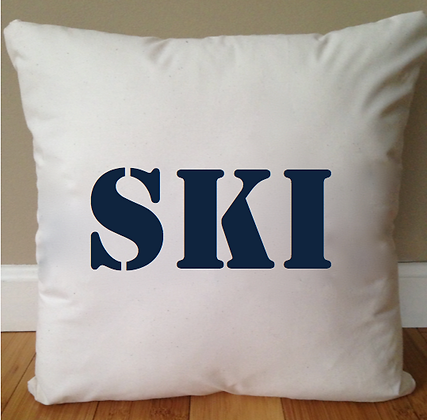 Ski Bum Pillow