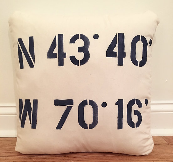 Latitude, Longitude Pillow