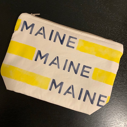 """MAINE"" Striped Cosmetic Bag"