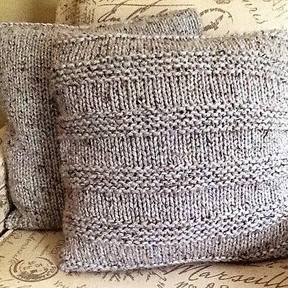 Knit Striped Pillow