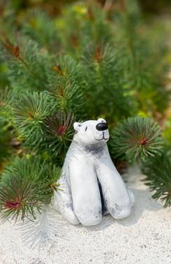 The C.O.P.E project handmade clay polar bears