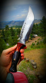 camping knife, camping knives, camping blade, camping blades, Colorado made blades, Colorado blacksmith, Rocky Mountain blacksmith, Rocky Mountain knife, Made in USA, USA knives, USA blades, USA made knives, USA made blades, custom made camping knife, camp