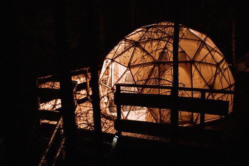 Nuit insolite & écologique en dôme en pleine forêt !