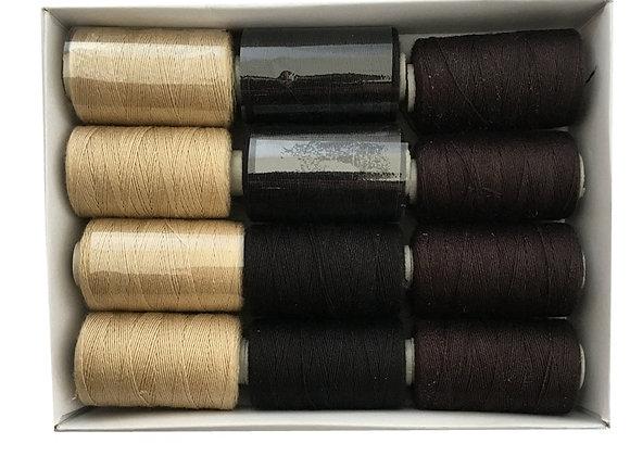 Hair Weaving Thread Cotton Sewing Thread 1000 Yards 12 Rolls One Box