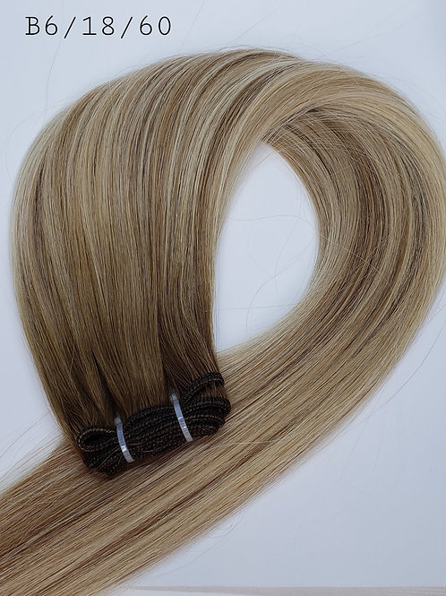 Hand Tied Weft Hair #B6/18/60