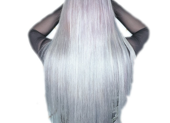 Hand Tied Weft Hair # Silver
