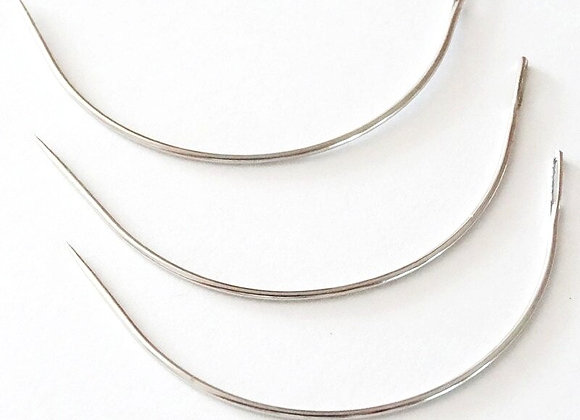 1Curved Needles Hair Weaving Sewing Needles for Hair Extension