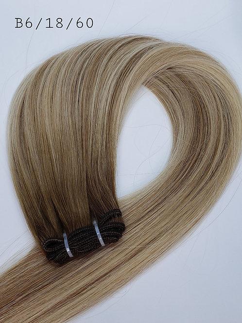 Machine Weft Hair #B6/18/60
