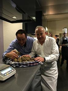 Chef recette truffe blanche d'Alba tuber
